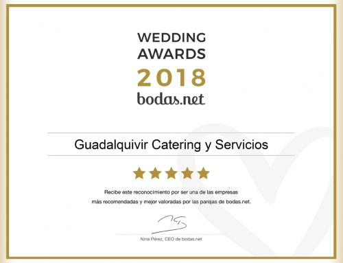 Guadalquivir Catering obtiene el premio Wedding Awards 2018 en bodas.net
