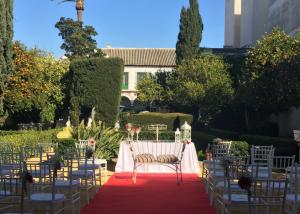 Ceremonia exterior en casa palacio bucarelli